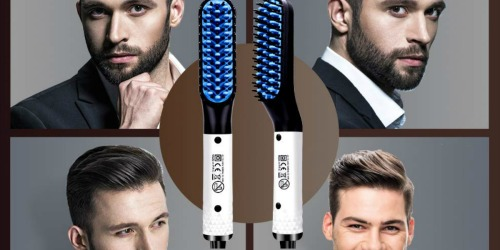 Beard Straightener Set Only $19.99 Shipped on Amazon | Includes Heated Comb & Beard Oil