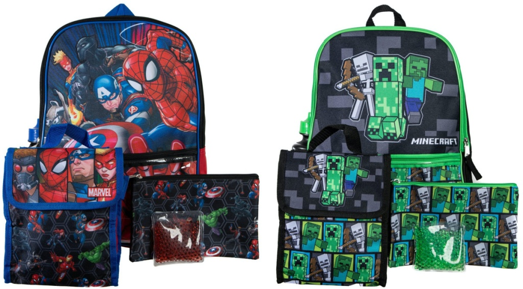 two kids character backpack sets