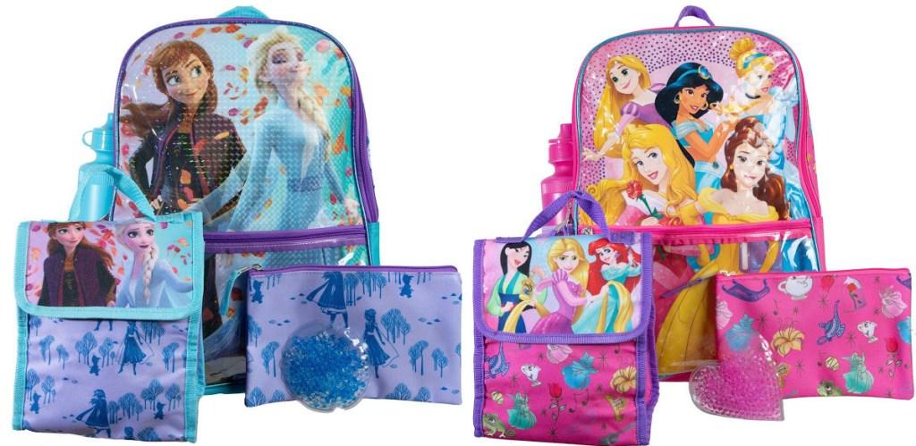 two kids Disney Princess backpack sets