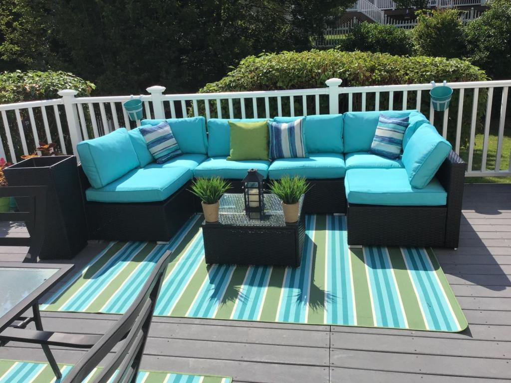 Black Teal Outdoor Sectional