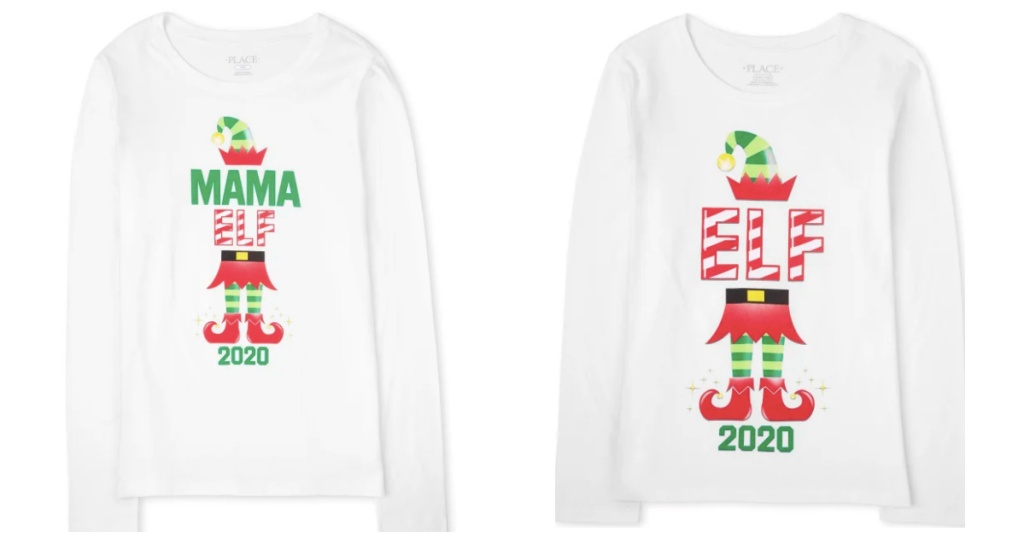 christmas elf matching tees the childrens place