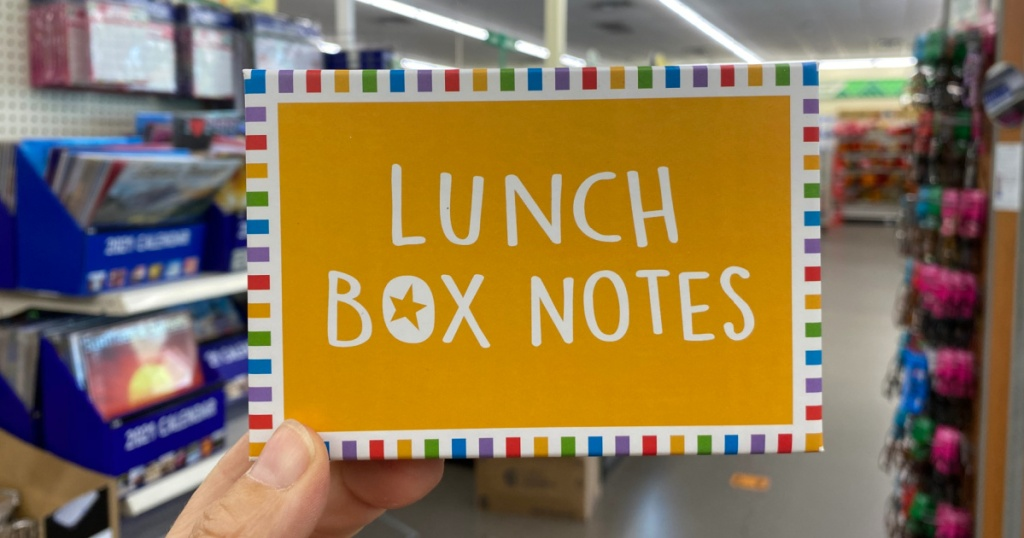 lunchbox notes at dollar tree