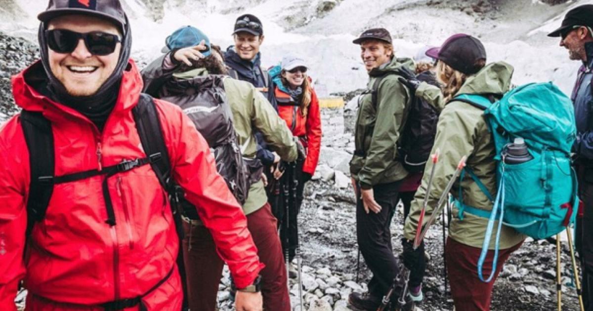 mountain hardwear outerwear many people in jackets