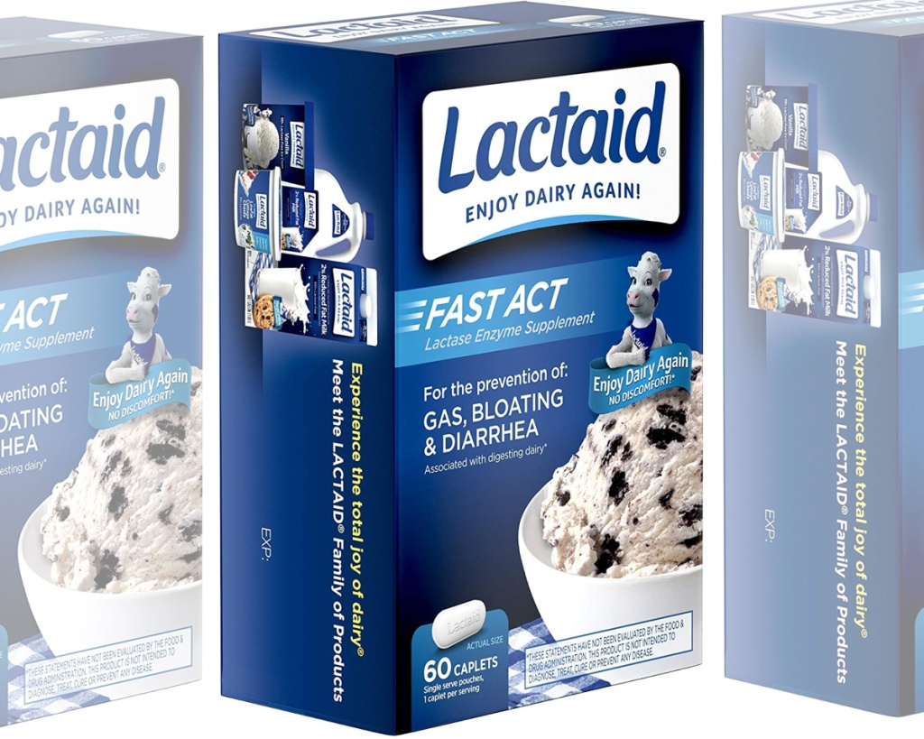 lactaid caplets side by side