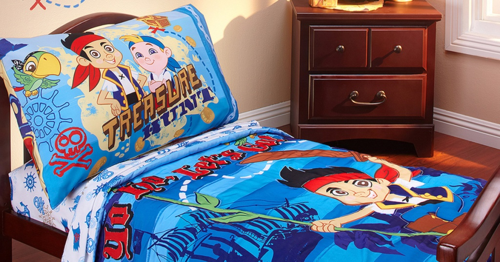 disney jake & pirates bedding in kids room