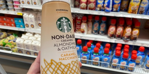 Starbucks Non-Dairy Coffee Creamers w/ Almondmilk & Oatmilk are Now Available