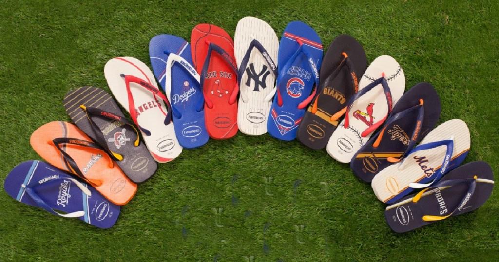 MLB havaianas on grass
