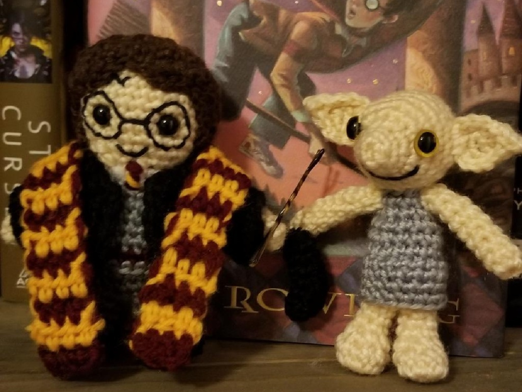 harry potter crochet dolls harry and dobby