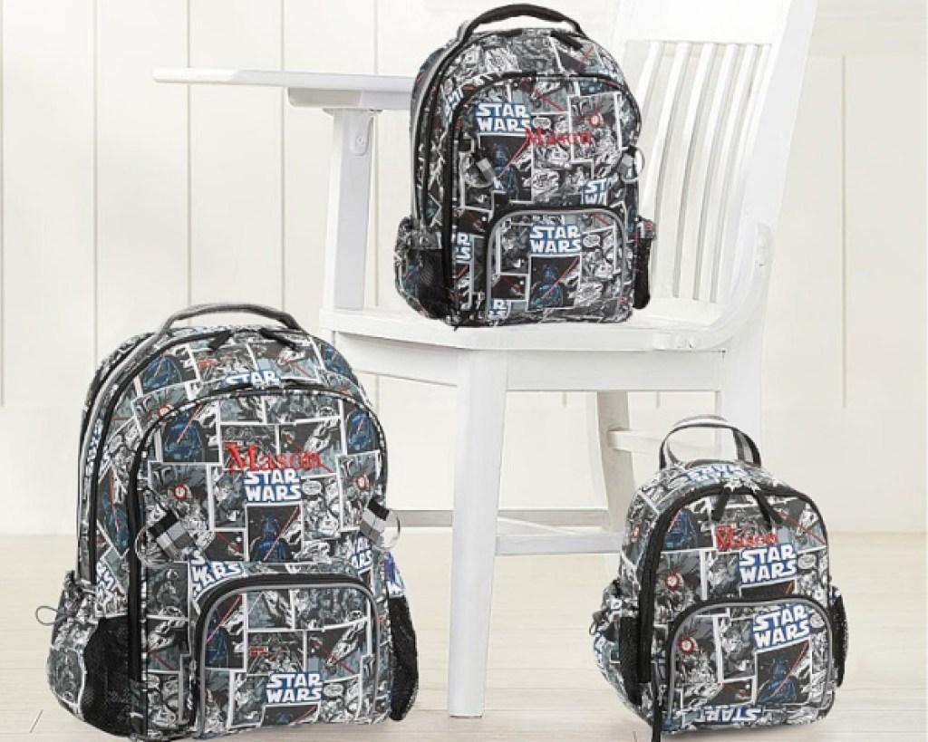 allover star wars backpacks three