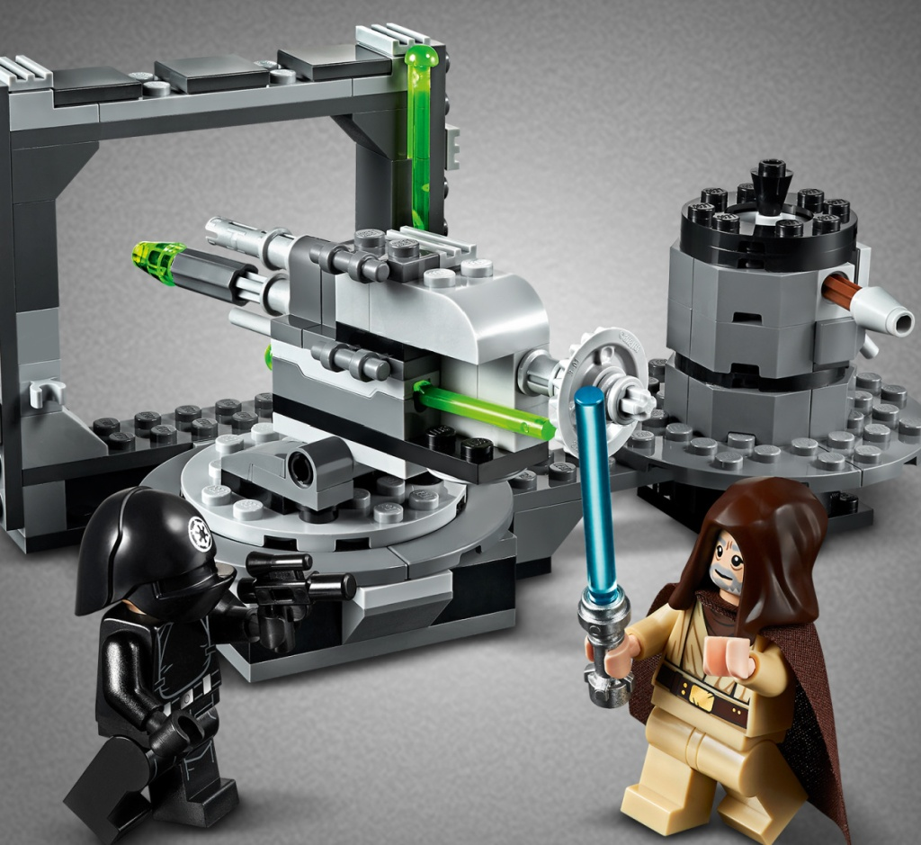 lego star wars death star cannon with minifigures shown