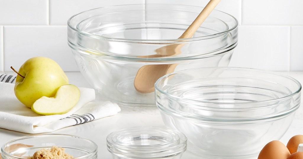martha stewart glass mixing bowls 10 piece