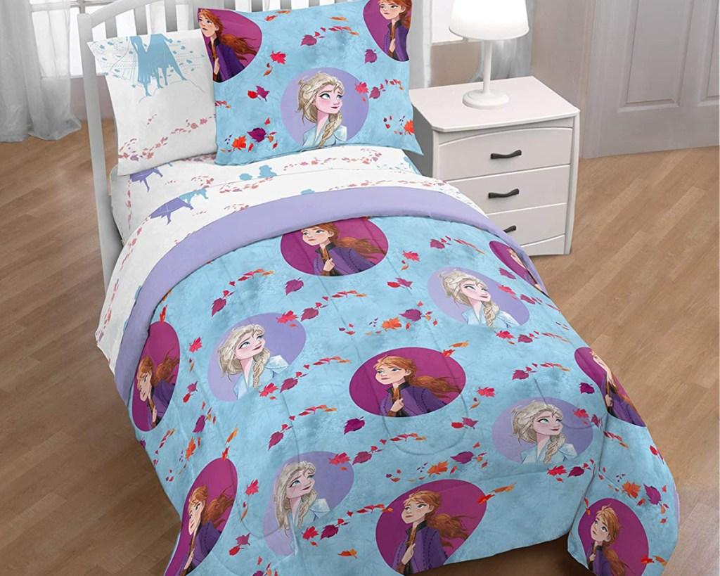 frozen 2 reversible comforter in kids room