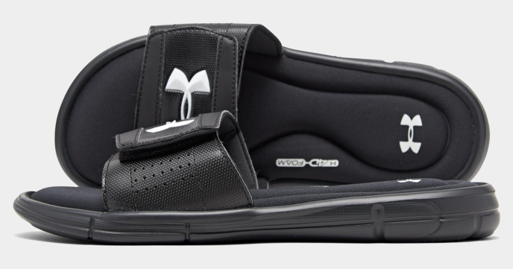 under armour mens slides two shoes stacked