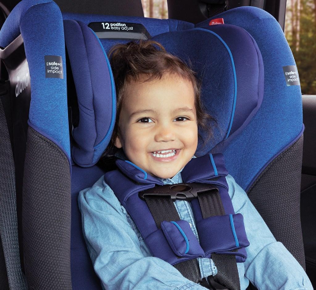 diono radian car seat toddler in seat