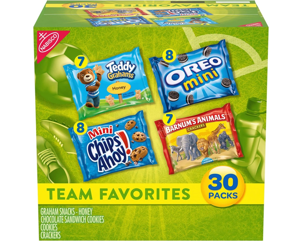 nabisco variety snack pack in box