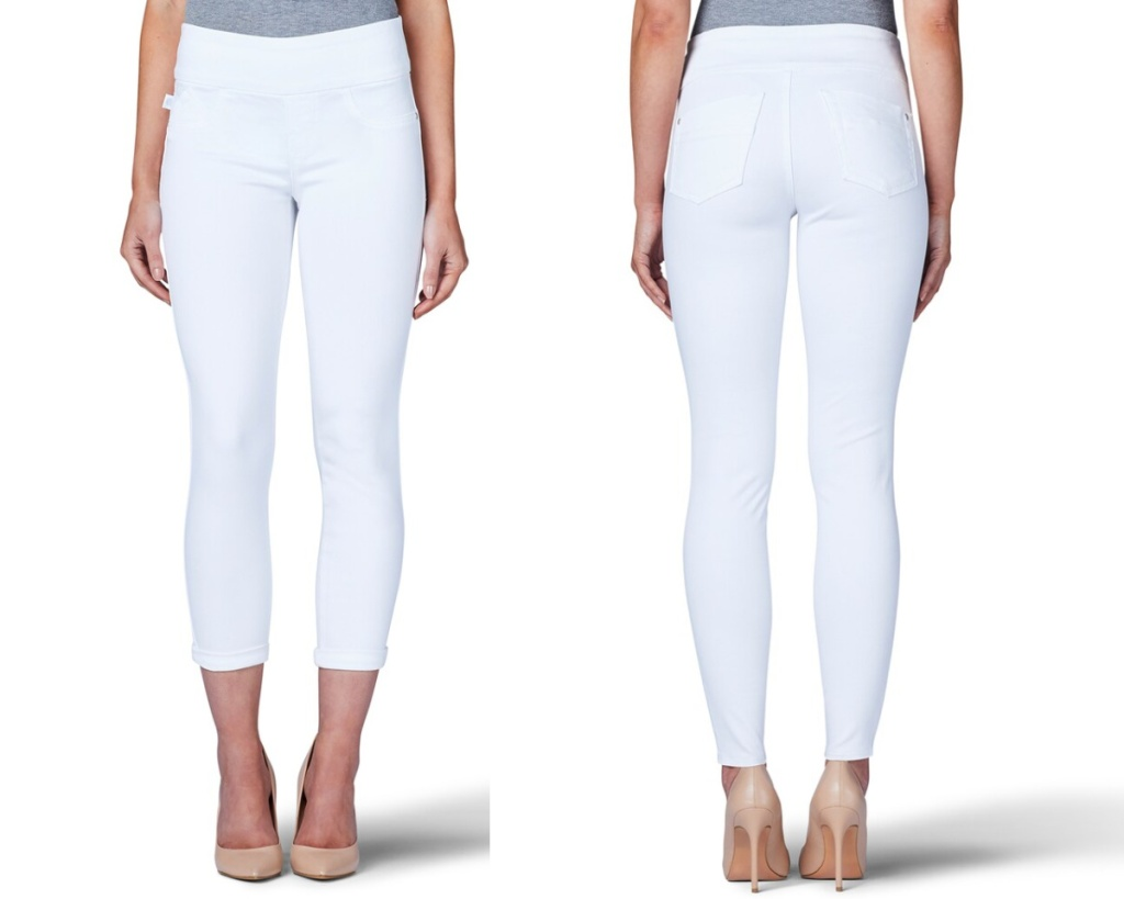 rock & republic white jeans and leggings front and back