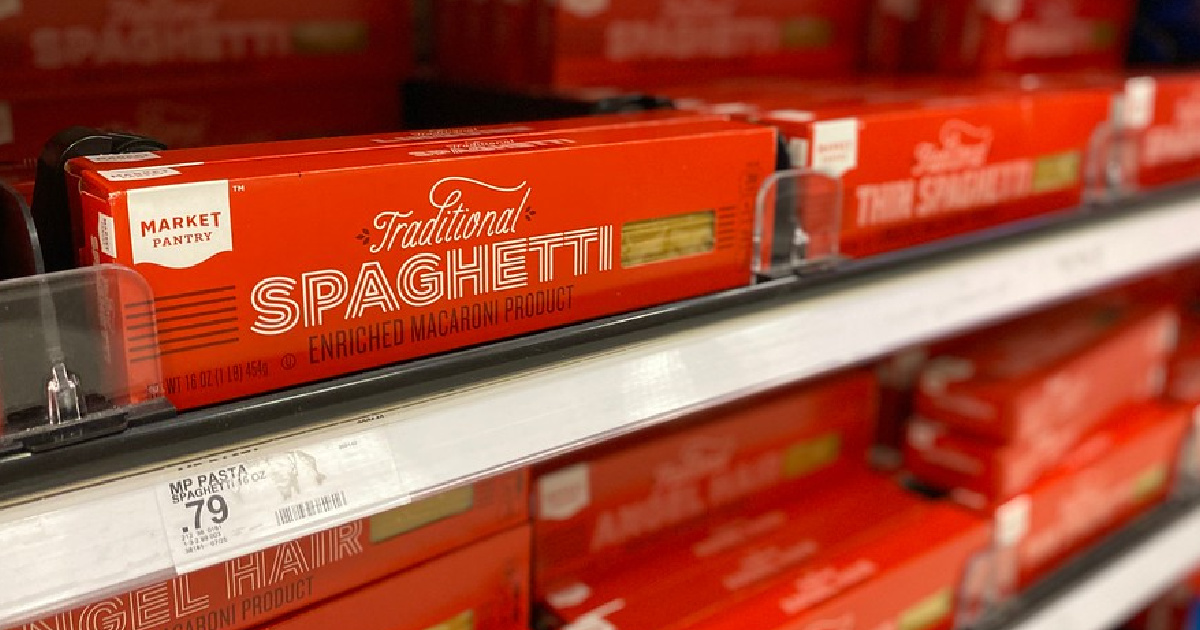 market pantry traditional spaghetti on shelves at target