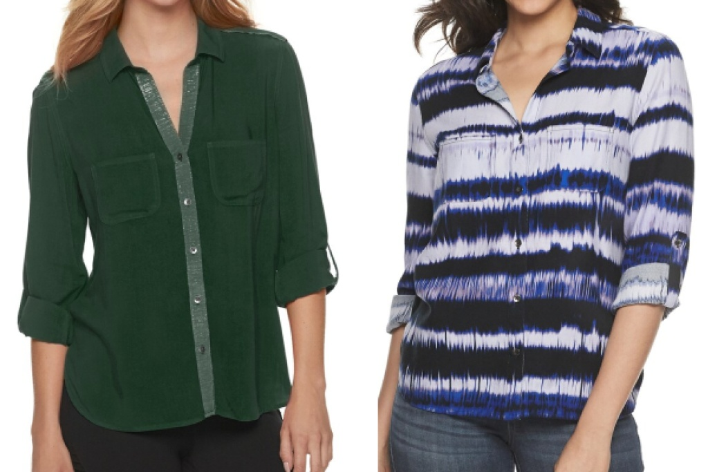 rock ad republic womens tops green and blue
