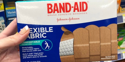 Band-Aid Fabric Bandages 100-Count Only $5.53 Shipped on Amazon
