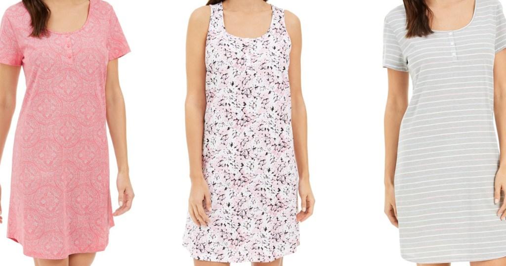 charter club womens nightgowns on three women