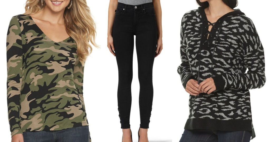 rock and republic womens apparel at kohls shirt jeans and hoodie
