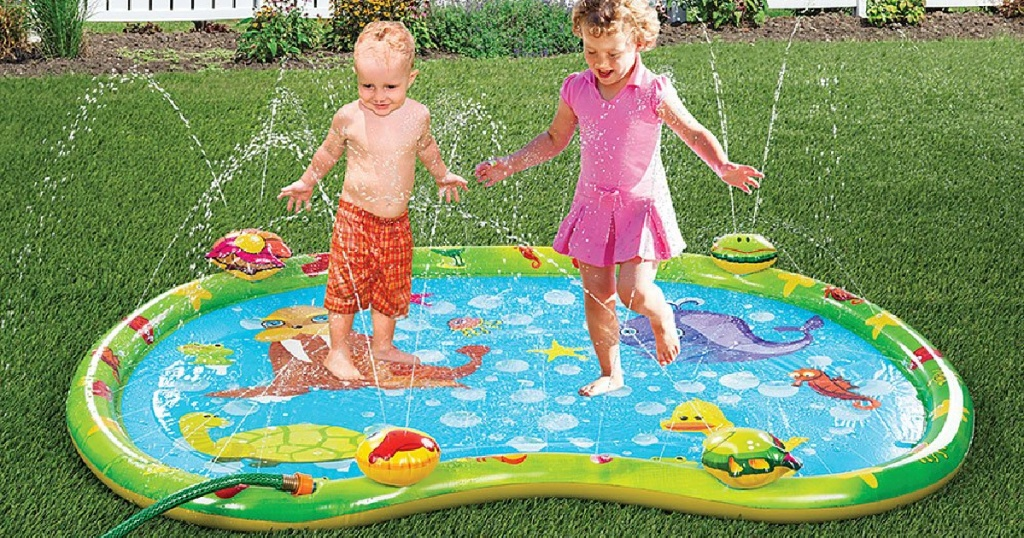 etna inflatable playmat with kids