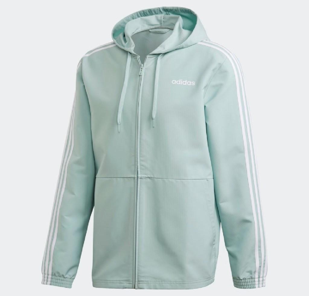 adidas 3-stripe jacket mint green