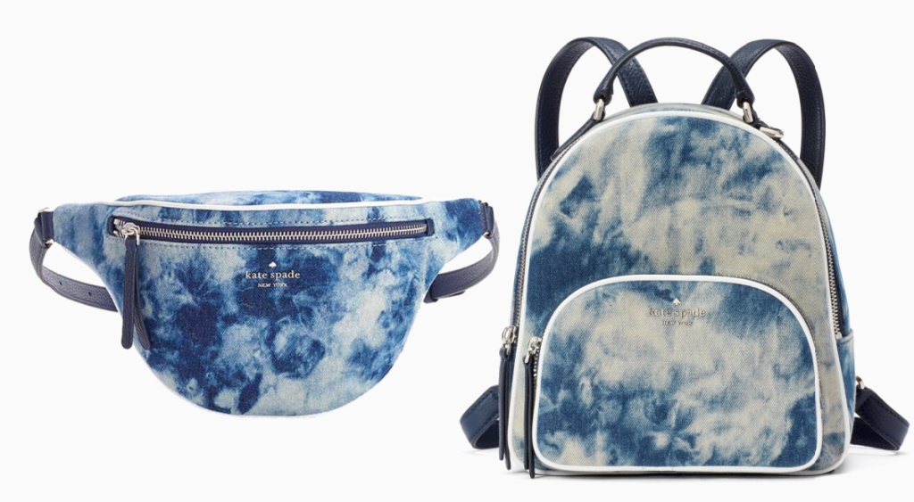 kate spade tye dye bags belt bag and backpack