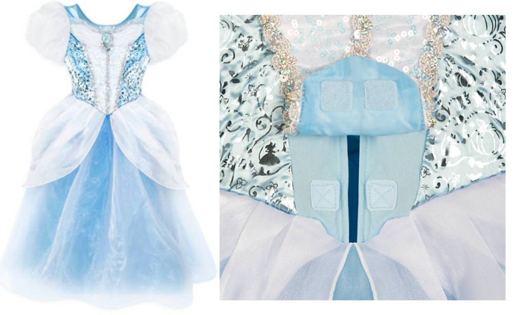 disney cinderella adaptive costume showing front opening