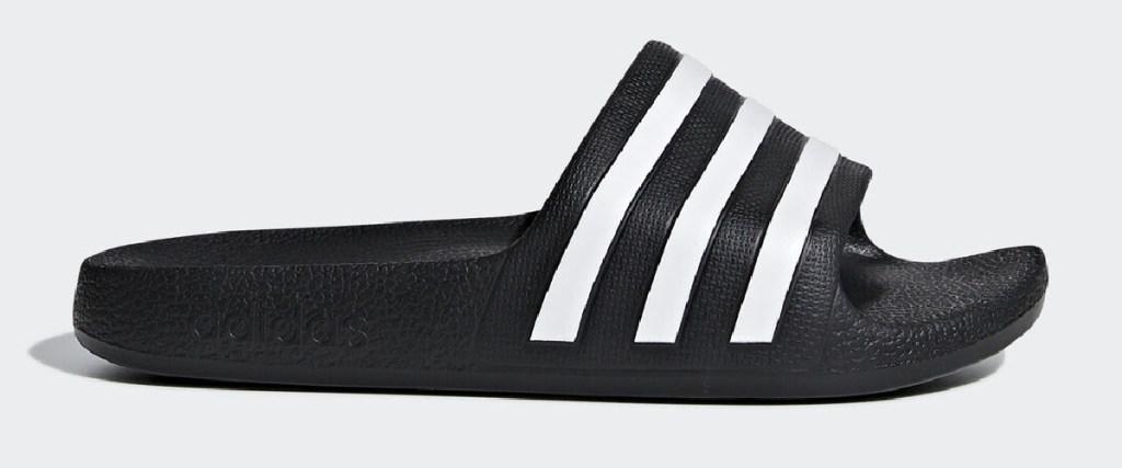adidas kids slides black