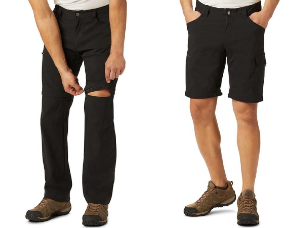 columbia silver ridge convertible pants one side pants, one shorts