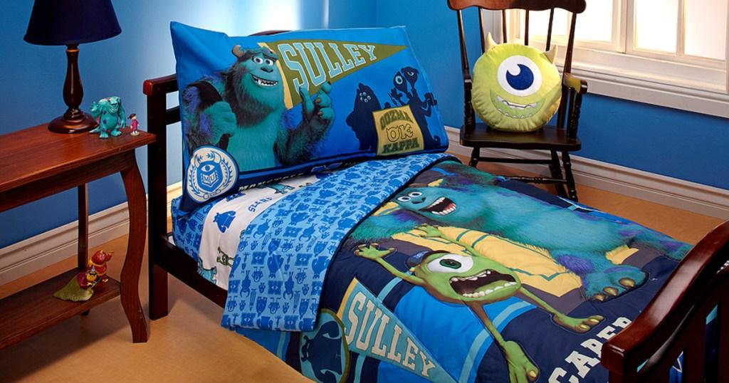 disney monsters university bedding set in kids room