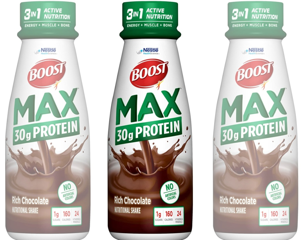 boost protein shakes three side by side