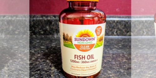 2 Sundown Fish Oil Softgels 100-Count Bottles Just $6 Shipped on Amazon