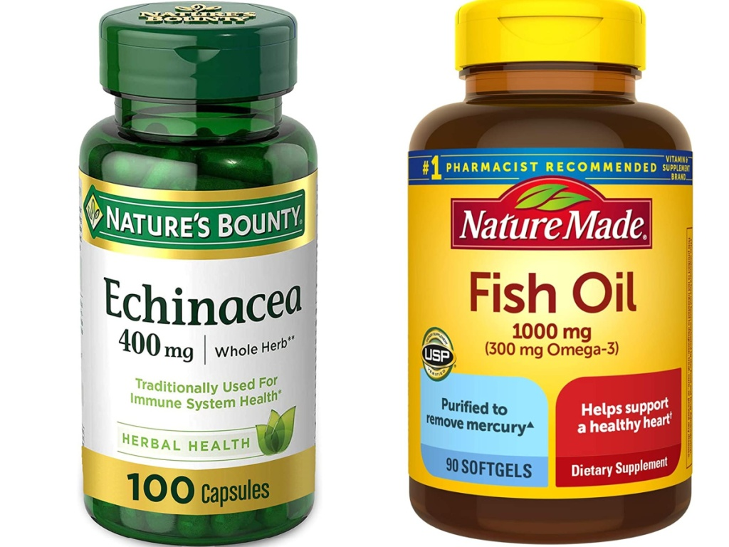 natures bounty echinacea and fish oil