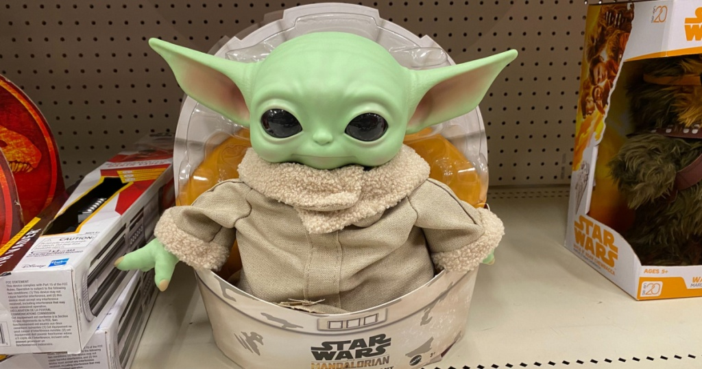 star wars the child baby yoda plush at walmart