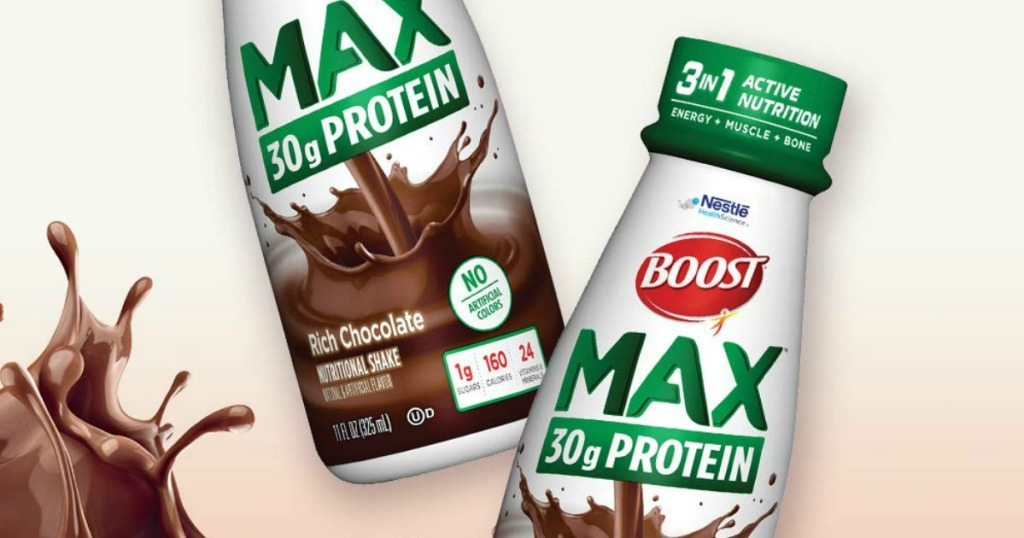 Boost Max protein shakes