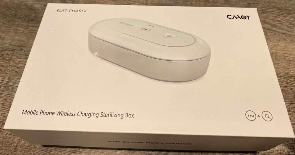 Cahot Portable Wireless Charging Sterilizing Box in manufacturer box