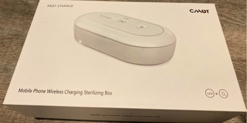 Portable Wireless Sterilizing Box & Charger Only $29.99 Shipped on Amazon (Regularly $60)