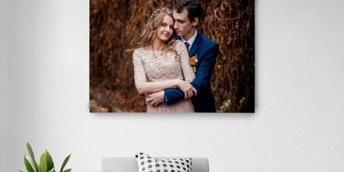 Custom Canvas 30×40 Photo Print Only $19.99 (Regularly $36)   99+ Year Guarantee