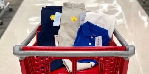 Cat & Jack Kids Uniforms From $2.80 on Target.com