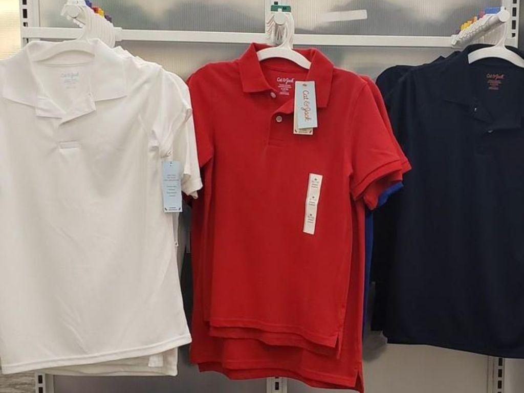 polo shirts at Target