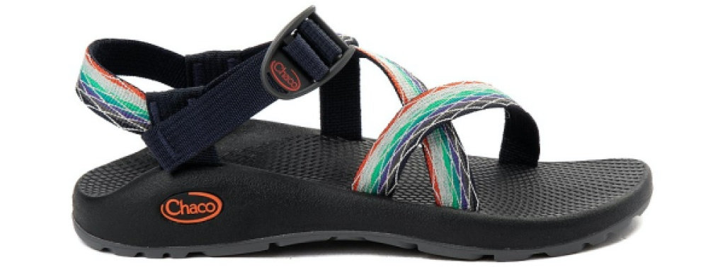 women's black and multi-color sport slide sandals