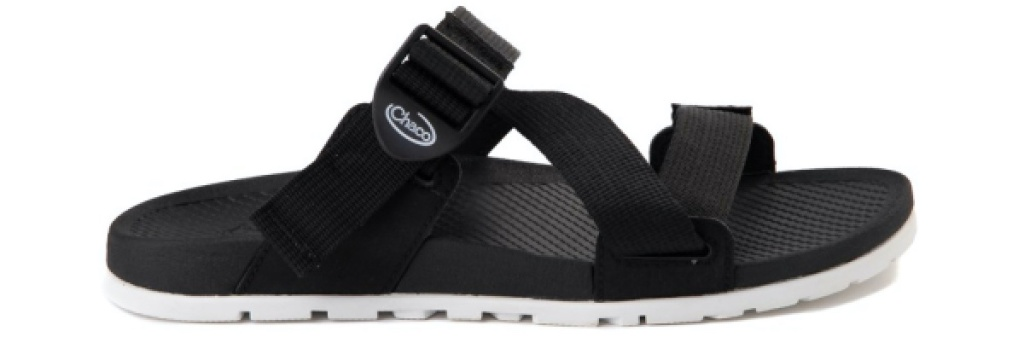 women's black and white sport slide sandals