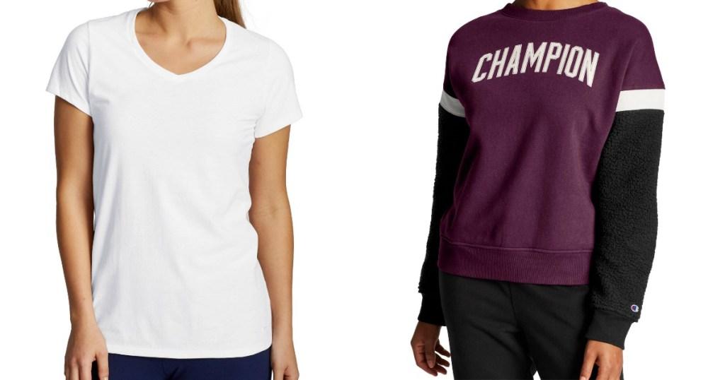 Champion Tee and Sweatshirt for women