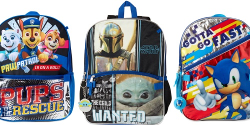 Character Backpack 5-Piece Sets Only $12.99 on Walmart.com (Regularly $17) | Paw Patrol & More