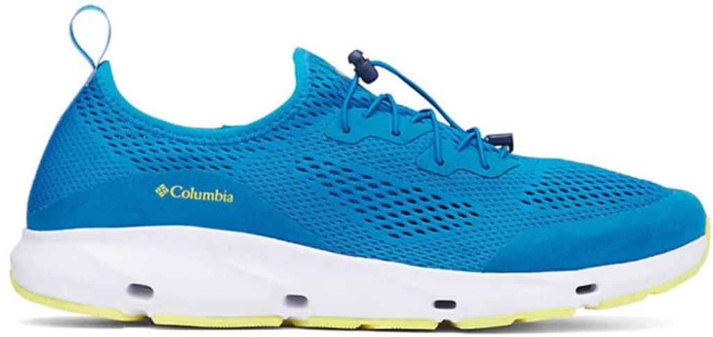men's blue vented shoe