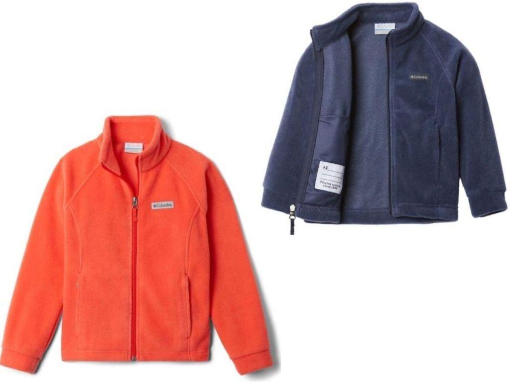 two girls fleece jackets