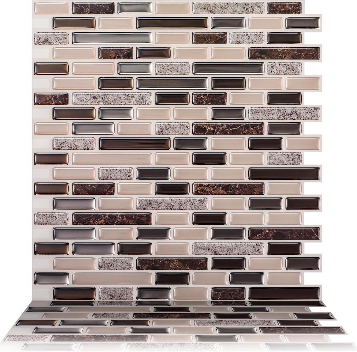 Como Crema Tiles in brown hues stock image