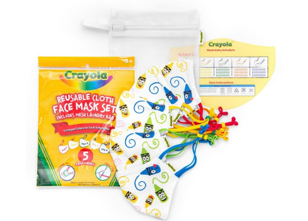 Crayola kids face masks set